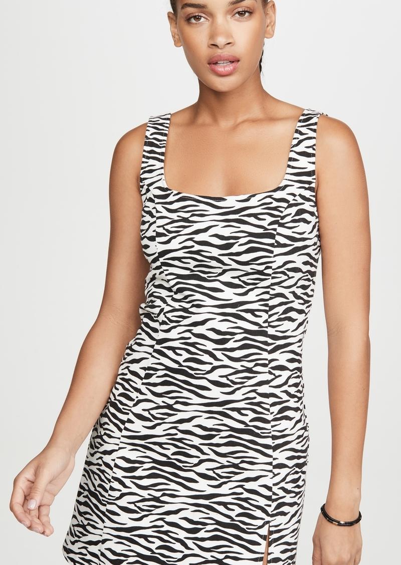 re:named Zebra Mini Dress