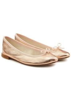 Repetto Cendrillon Metallic Leather Ballerinas