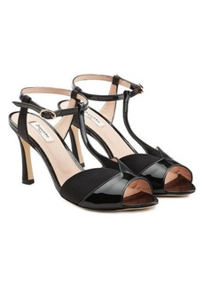 Repetto Irma Sandals in Patent Leather and Satin