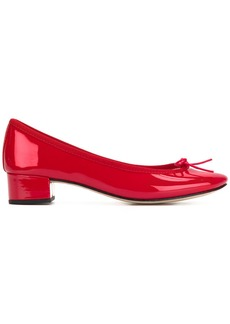 Repetto bow front low heel pumps - Red
