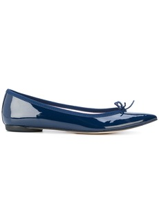Repetto pointed bow ballerina shoes - Blue