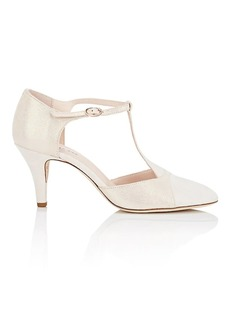 Repetto Women's Claudia Leather & Suede T-Strap Pumps