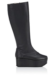 Repetto Women's Evita Leather Platform Knee Boots