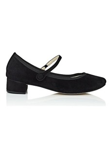 Repetto Women's Rose Suede Mary Jane Pumps