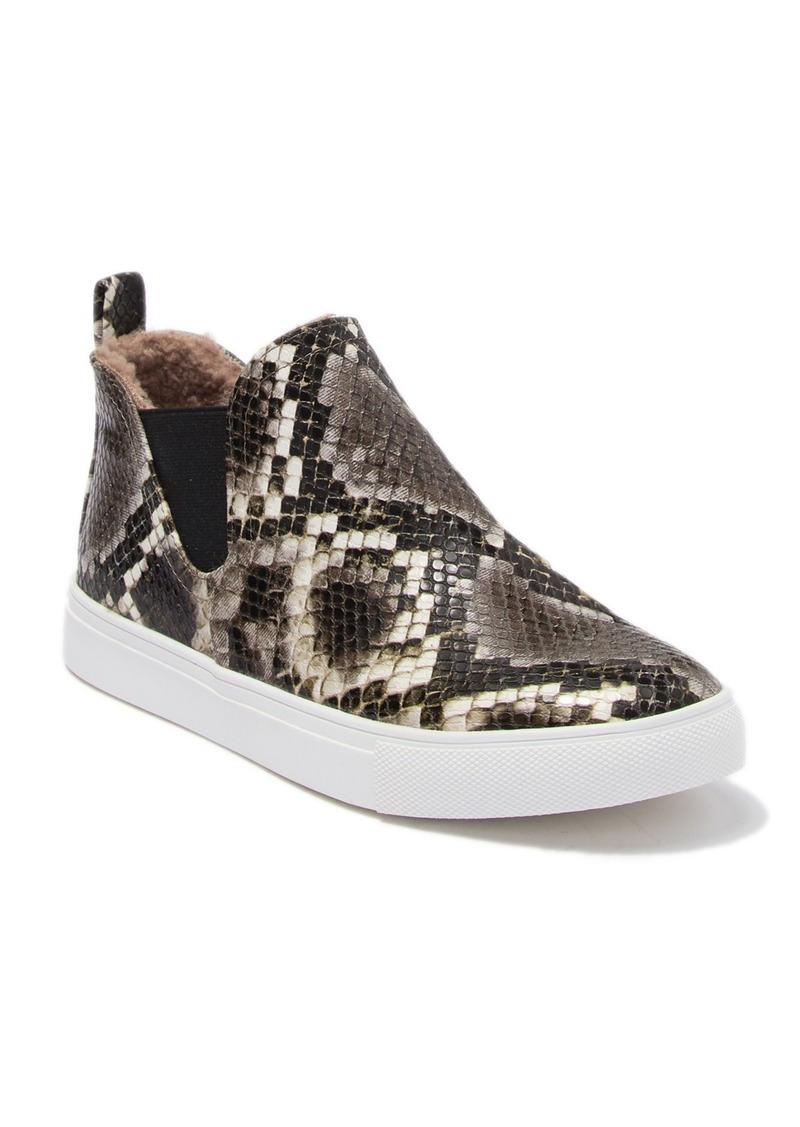 Report Adelpha Snakeskin Embossed Faux Fur Lined Slip-On Mid Sneaker