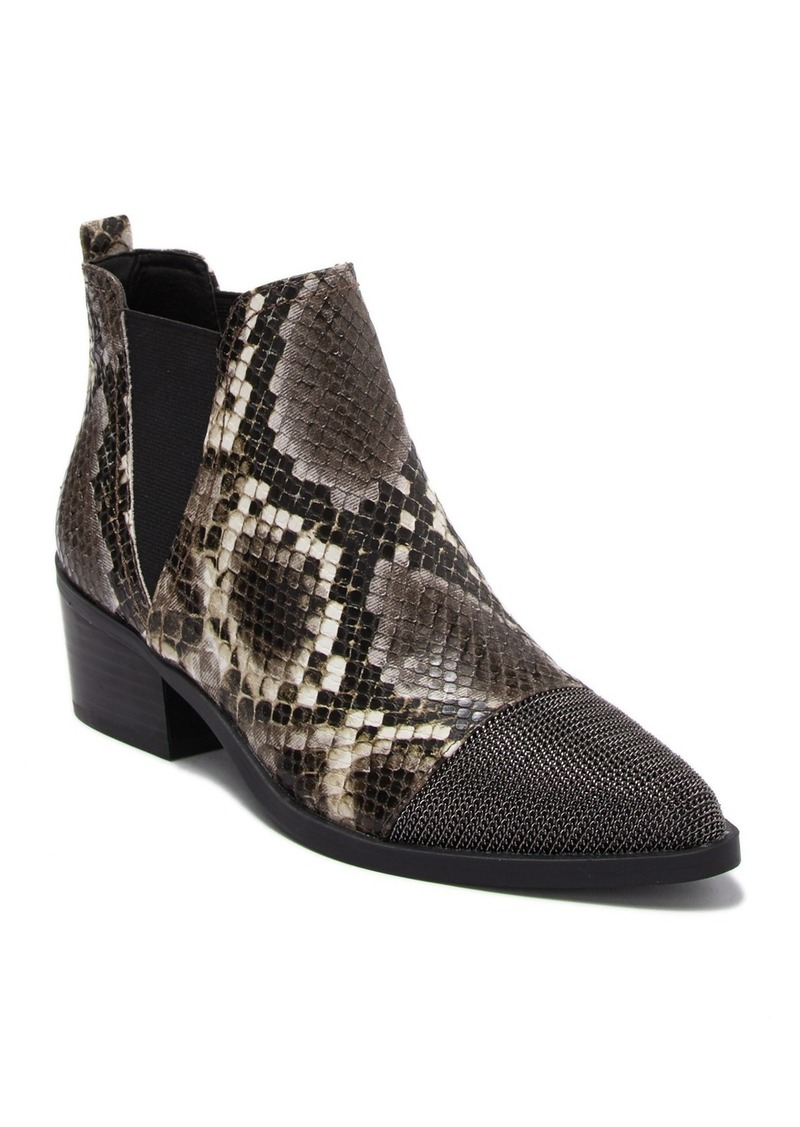 Report Chain Cap Toe Snake-Embossed Bootie