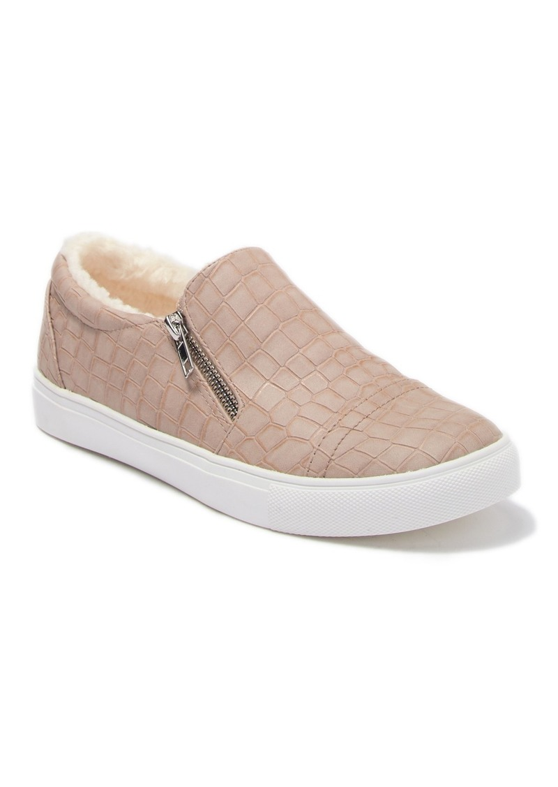 Report Abir Faux Fur Lined Croc-Embossed Sneaker