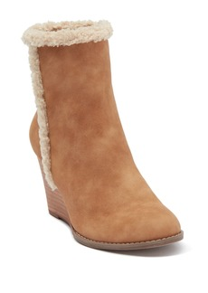 Report Guada Faux Shearling Trim Wedge Bootie