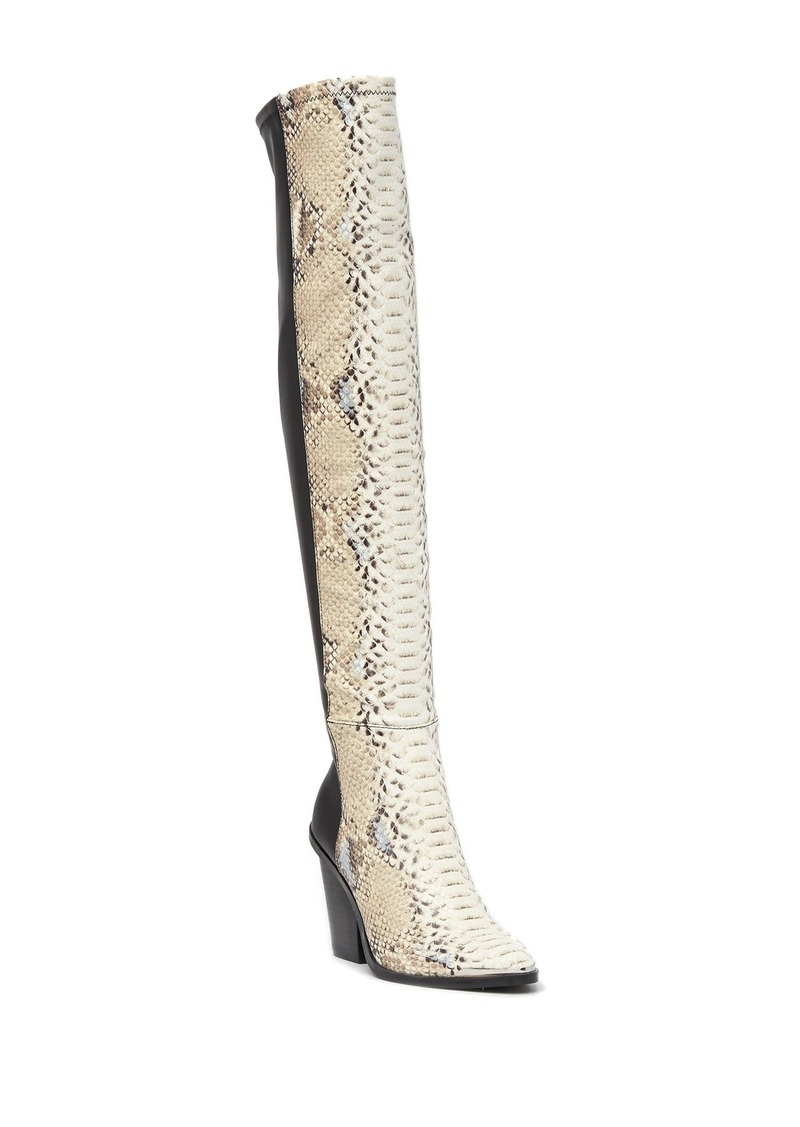 Report Janelle Snake Embossed Knee-High Boot