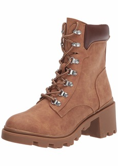 Report Women's lace up Combat Bootie Ankle Boot TAN