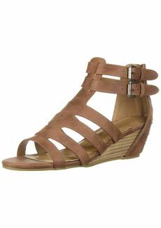 Report Women's Monroe Wedge Sandal Dark tan  M US