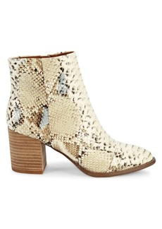 Report Trixi Snakeskin-Embossed Faux Leather Booties