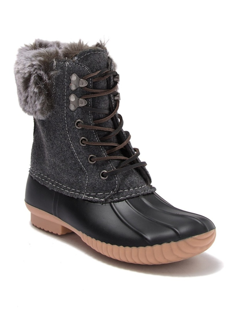 Report Ursela Faux Fur Trimmed Duck Boot