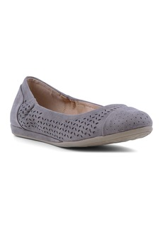 Report Vika Chop Out Perforated Ballet Flat
