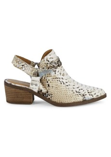 Report Zayden Faux Leather Slingback Mules