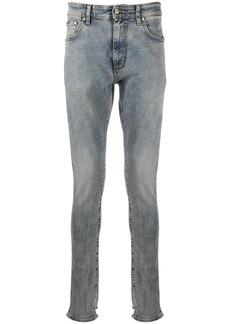 Represent acid-wash skinny jeans