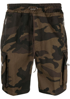 Represent camouflage-print shorts