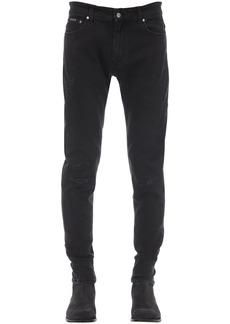 Represent Repaired Cotton Blend Denim Jeans