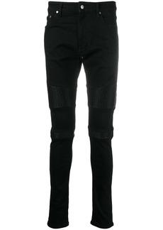 Represent ribbed details skinny jeans