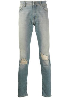 Represent ripped detail jeans