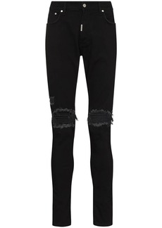 Represent ripped-detailing skinny jeans