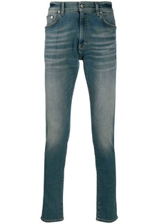 REPRESENT FW19M07010 SAND BLUE Natural (Vegetable)->Cotton