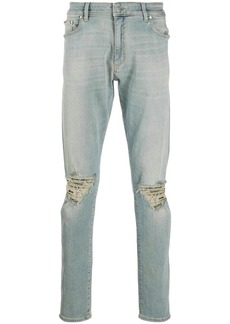 Represent slim faded jeans