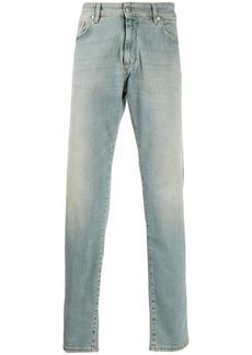 Represent straight leg stonewashed jeans