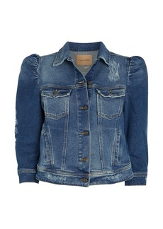 Retrofête Ada Puff Sleeve Denim Jacket