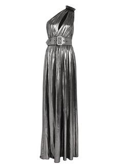 Retrofête Andrea One-Shoulder Lamé Gown