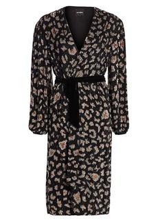 Retrofête Aubrey Sequin Wrap Dress