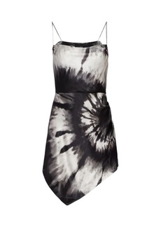 Retrofête Auris Tie-Die Silk-Blend Mini Dress