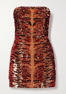 Retrofête Aurora Strapless Embellished Sequined Crepe Mini Dress