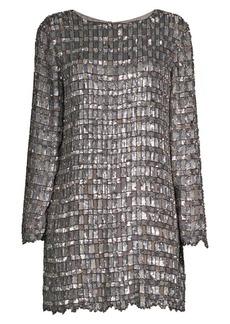 Retrofête Delilah Hand-Embroidered Mini Dress