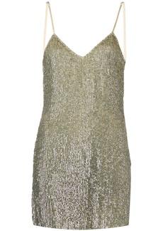 Retrofête embellished fitted mini dress