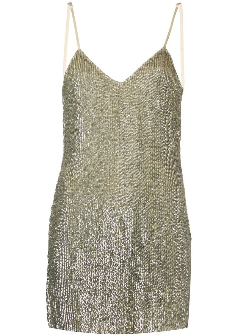 Retrofête embellished fitted mini dress