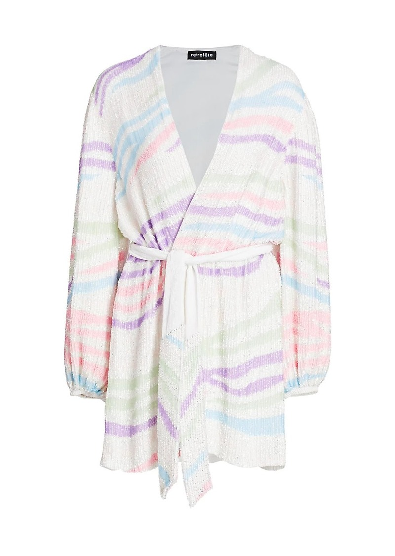 Gabrielle Robe Sequin Wrap Dress