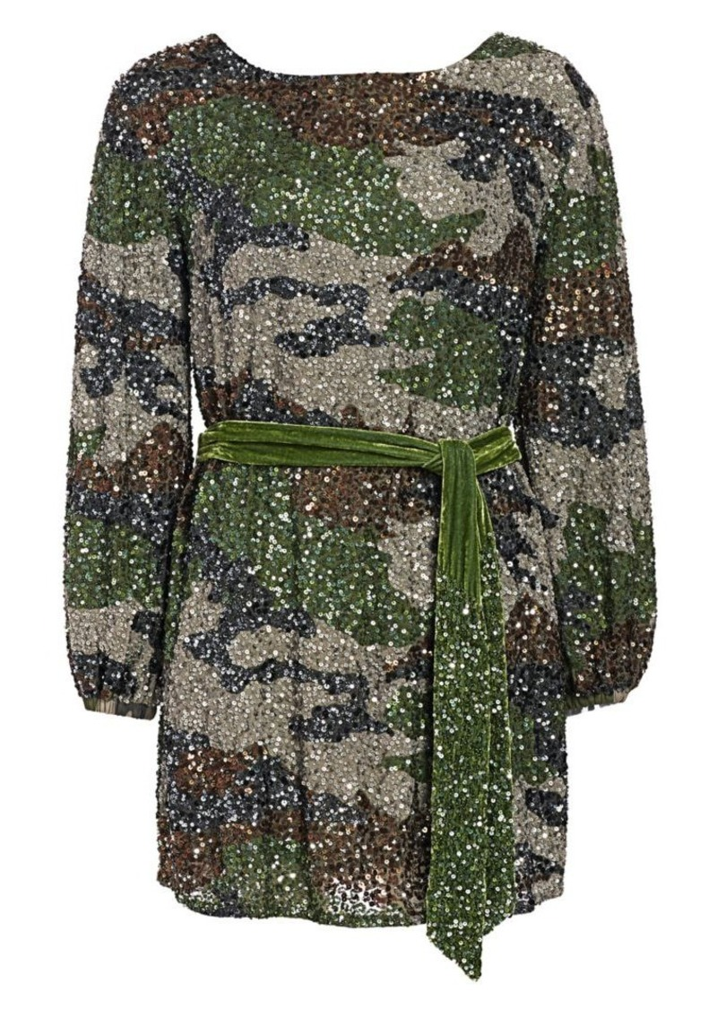 Retrofête Grace Sequin Camo Mini Dress