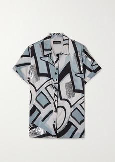 Retrofête Greda Sequin-embellished Printed Silk-blend Shirt