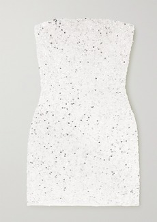 Retrofête Heather Sequined Chiffon Mini Dress