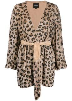 Retrofête leopard print mini dress