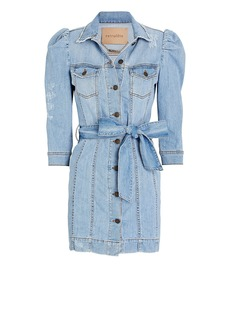 Retrofête Lima Puff Sleeve Denim Dress
