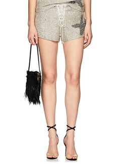 retrofête Women's Cora Beaded Lace-Up Shorts