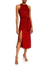 Retrofête Tilly Sequined High-Neck Cocktail Dress