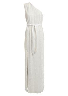 Retrofête Vivien One-Shoulder Sequin Gown