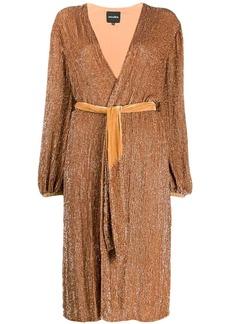 Retrofête wrap-style midi dress