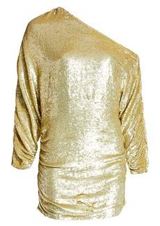 Retrofête Yasmin Ruched Sequin Mini Dress