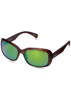 Revo Paxton RE 1039 12 GN Polarized Rectangular Sunglasses Honey Tortoise/Green Water 56 mm