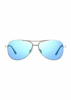 Revo Sunglasses Revo Unisex RE 1014 Relay Aviator Polarized UV Protection Sunglasses  Blue Water Lens