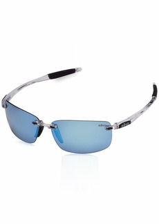 Revo Unisex RE 4059 Descend N Rectangular Polarized UV Protection Sunglasses  Blue Water Lens